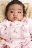 Portret van een Pasgeboren Meisje van de Baby stock foto