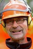 Portret van een prachtige, gelukkige houthakker Royalty-vrije Stock Afbeeldingen