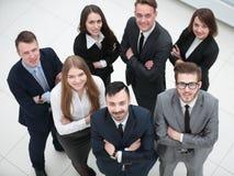 Portret van een professioneel commercieel team stock afbeeldingen
