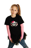 Portret van een punk rockmeisje Stock Foto
