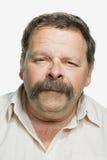 Portret van een rijpe volwassen mens stock afbeelding