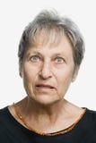 Portret van een rijpe volwassen vrouw Stock Afbeeldingen