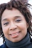 Portret van een rijpe vrouw Stock Foto