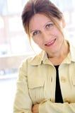 Portret van een rijpe vrouw Stock Afbeeldingen