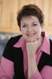 Portret van een rijpe vrouw Royalty-vrije Stock Foto's