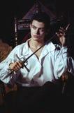 Portret van een romantische mens Royalty-vrije Stock Foto