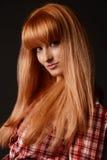 Portret van een roodharige jong meisje Stock Foto