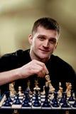 Portret van een schaakspeler royalty-vrije stock foto