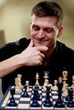 Portret van een schaakspeler stock afbeelding
