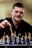 Portret van een schaakspeler stock foto's