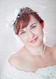 Portret van een schoonheids redhead bruid Royalty-vrije Stock Afbeeldingen