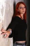 Portret van een sexy jong tuimelschakelaarmeisje royalty-vrije stock afbeeldingen