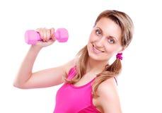 Portret van een sportieve jonge vrouw Stock Foto