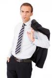 Portret van een succesvolle bedrijfsmens Stock Foto's
