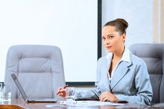Portret van een succesvolle bedrijfsvrouw Royalty-vrije Stock Fotografie