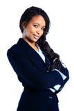 Portret van een succesvolle jonge bedrijfsvrouw stock foto