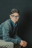 Portret van een tiener met stijl royalty-vrije stock afbeeldingen