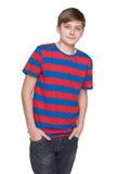 Portret van een tienerjongen Stock Foto's