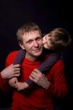 Portret van een vader met zijn zoon Royalty-vrije Stock Foto's
