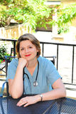Portret van een verpleegster stock afbeeldingen