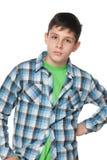 Portret van een verstoorde tienerjongen royalty-vrije stock afbeeldingen