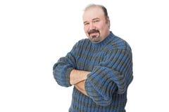 Portret van een vriendschappelijke rijpe mens Stock Afbeeldingen
