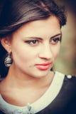 Portret van een vrij jonge vrouw Stock Foto's
