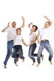 Portret van een vrolijke familie Stock Foto's