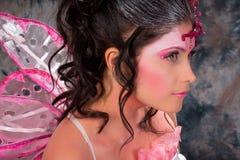 Portret van een vrouw in de make-up van de feeën Royalty-vrije Stock Afbeeldingen