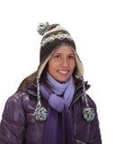 Portret van een vrouw in de winter royalty-vrije stock foto