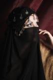 Portret van een vrouw in het oostenstijl Royalty-vrije Stock Foto's