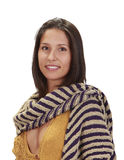 Portret van een vrouw met een sjaal stock fotografie