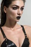 Portret van een vrouw met Mooie make-up royalty-vrije stock foto's