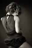 Portret van een vrouw in studio Stock Afbeeldingen