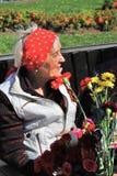 Portret van een vrouw van de oorlogsveteraan Royalty-vrije Stock Afbeelding