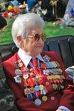 Portret van een vrouw van de oorlogsveteraan Royalty-vrije Stock Foto's