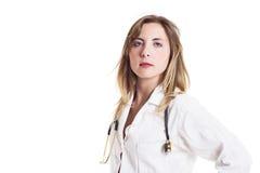 Portret van een vrouwelijke arts stock foto's