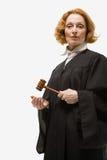 Portret van een vrouwelijke rechter stock afbeeldingen