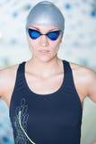 Portret van een vrouwelijke zwemmer Royalty-vrije Stock Foto