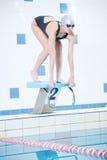 Portret van een vrouwelijke zwemmer Royalty-vrije Stock Afbeelding