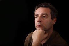 Portret van een wijze rijpe mens Stock Afbeeldingen