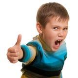 Portret van een zeer gelukkige jongen stock fotografie