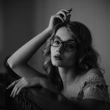 Portret van een zeer mooi meisje stock foto