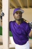 Portret van een Zekere Mannelijke Speler van het Honkbal royalty-vrije stock foto's