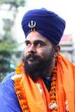 Portret van een zeldzame stam Nihang Singh, New Delhi, India Royalty-vrije Stock Foto