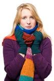 Portret van een zieke vrouw Stock Afbeelding