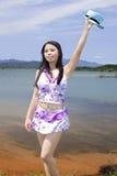 Portret van een zwemmend meisje Royalty-vrije Stock Foto
