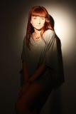 Portret van elegant meisje. Royalty-vrije Stock Afbeeldingen
