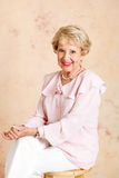 Portret van Elegante Hogere Dame Royalty-vrije Stock Foto