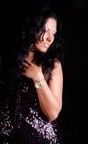 Portret van elegante vrouw Stock Afbeeldingen